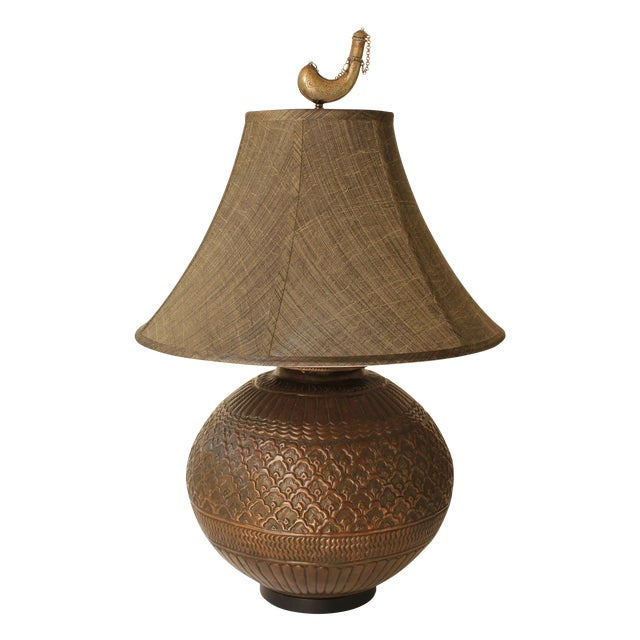 Tribal Repousse Table Lamp - Image 1 of 7