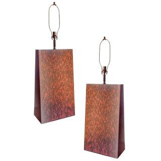 Grand Scale Sculpural Table Lamps