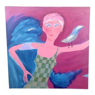 Magenta Lady Original Painting