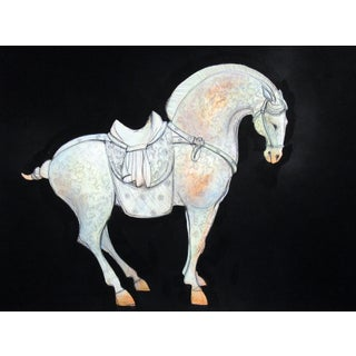 Tang Horse Scroll II Painting by Heidi Lanino