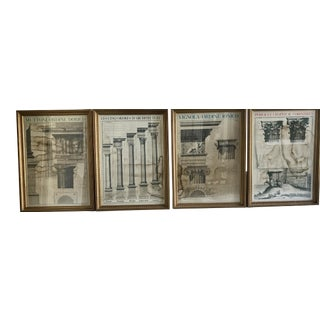 Greco Roman Architectural Prints- Set of 4