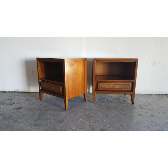 Vintage Mid-Century Nightstands by Century - Pair - Image 2 of 10