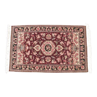 Hand Knotted Chinese Wool Rug - 3′1″ × 5′5″