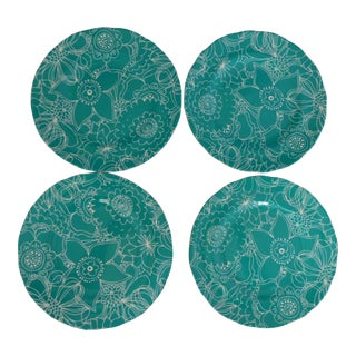 Cynthia Rowley Green Dessert Plates - Set of 4