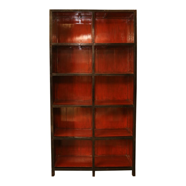 Tall Asian Display Cabinet/Bookshelf - Image 1 of 3