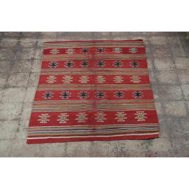 Vintage Native American Red Throw Rug/Blanket