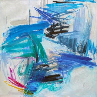 """Trixie Pitts' """"Chasing Coral"""" Large Abstract Painting"""