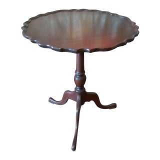 Vintage Pie Crust Side Table