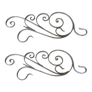 Antique Victorian Iron Garden Elements - A Pair
