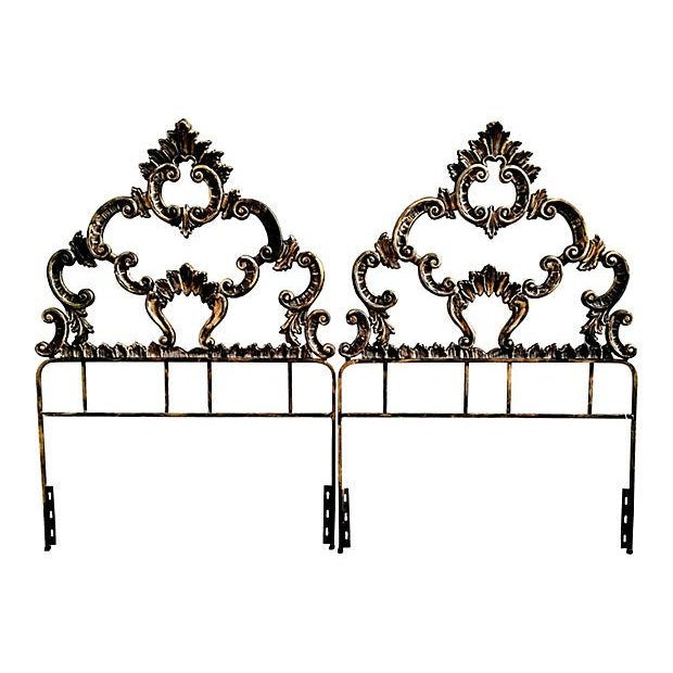 Twin French Rococo Hollywood Regency Headboard - 2 - Image 1 of 2