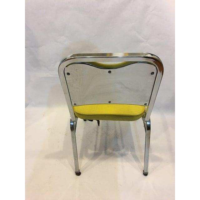 Mid-Century Chrome & Vinyl Chairs- Set of 4 - Image 6 of 8