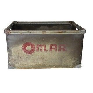 Vintage Industrial Metal Storage Bin