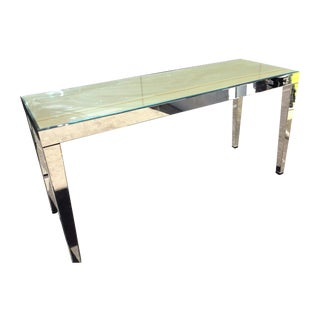 Large Beveled Mirror Hall Table