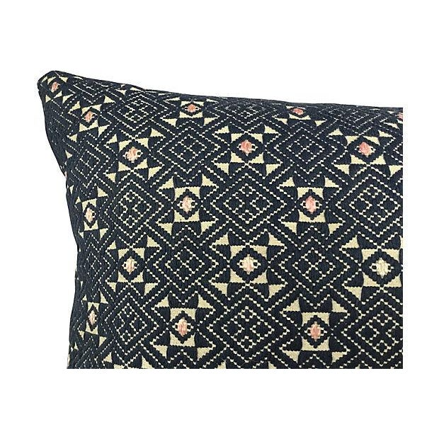 Hand-Woven Tribal Quilt Pillow - Image 3 of 4