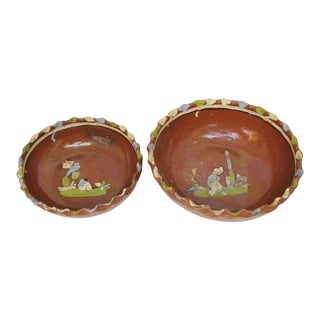 Mexican Red Clay Bowls - A Pair