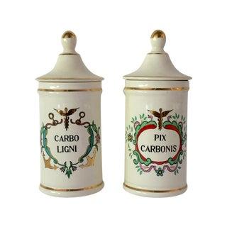 Vintage Apothecary Jars Jeanne Robinette - Pair