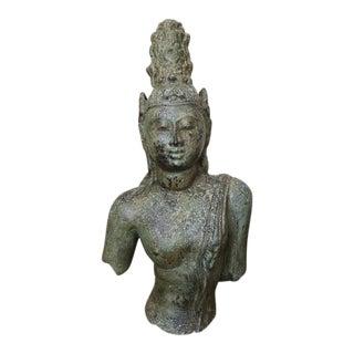 Bronze Bodhisattva Buddha Statue After Antique Model