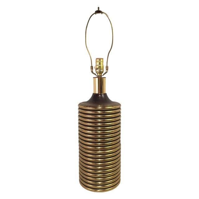 Gabriella Crespi Style Brass Lamp - Image 1 of 3