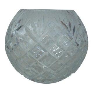 Cut Clear Crystal Rose Bowl