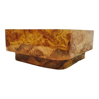 Mid-Century Modern Burl Coffee Table