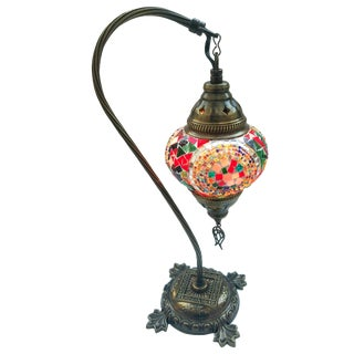 Boho Mosaic Pendant Table Lamp