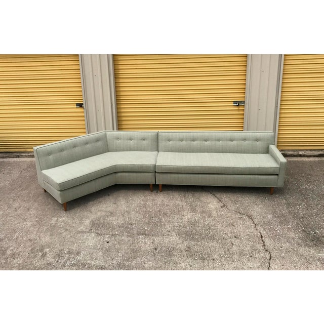 Marden Mid-Century Sectional Sofa - 2 Pieces - Image 3 of 11