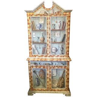 Antique Italian Trompe L'Olei Cabinet
