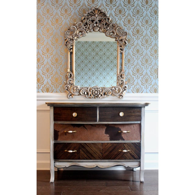 Image of Gilded Victorian Style Mirror