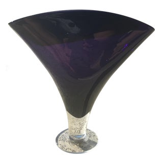 Vintage Blenko Purple Art Glass Vase