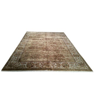 Traditional Hand Made Knotted Rug - 9′ × 12′6″