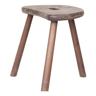 Vintage French Kidney Shaped Stool