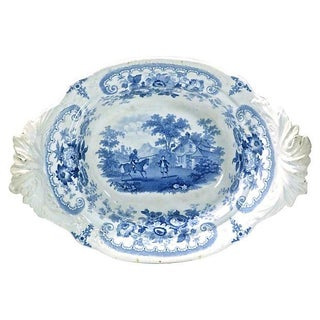 Antique Medieval Joust Scene Dish