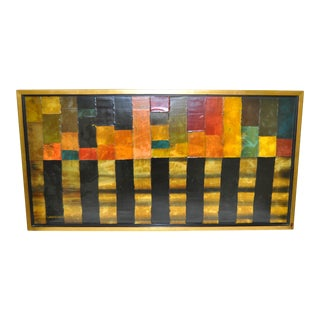 Vintage Abstract Painting by Lawrence Hunt Circa 1970s