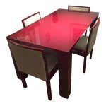 Image of Abc Carpet & Home Extendable Dining Table & 4 Chairs