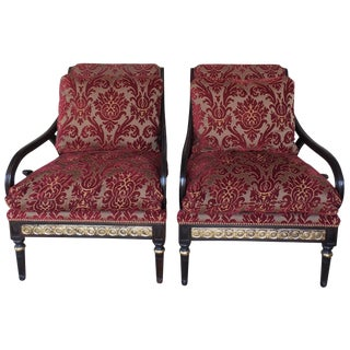 Swaim Classics Regency Lounge Chairs - A Pair