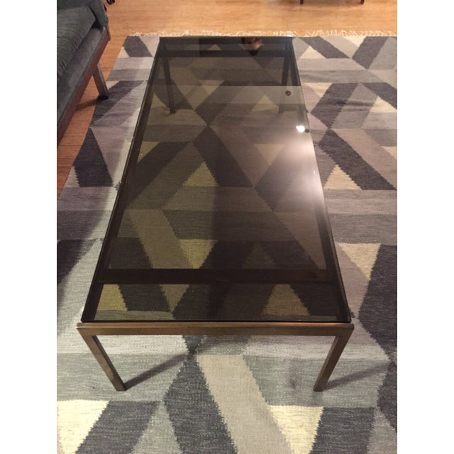 Brass and Smoked Glass Coffee Table - Image 2 of 4