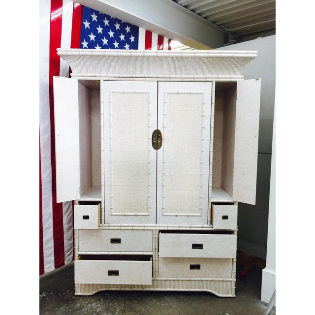 Faux Bamboo Dresser Cabinet by Ficks Reed - Image 10 of 11