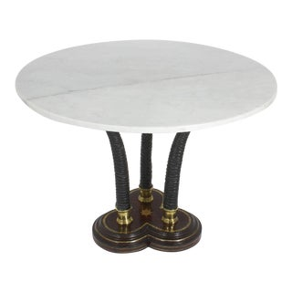 Maitland-Smith Marble and Faux Antelope Horn Table