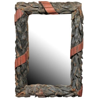 Large Black Forest Wood Carved Mirror