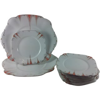 Art Deco Royal Albert Crown China - Set of 12