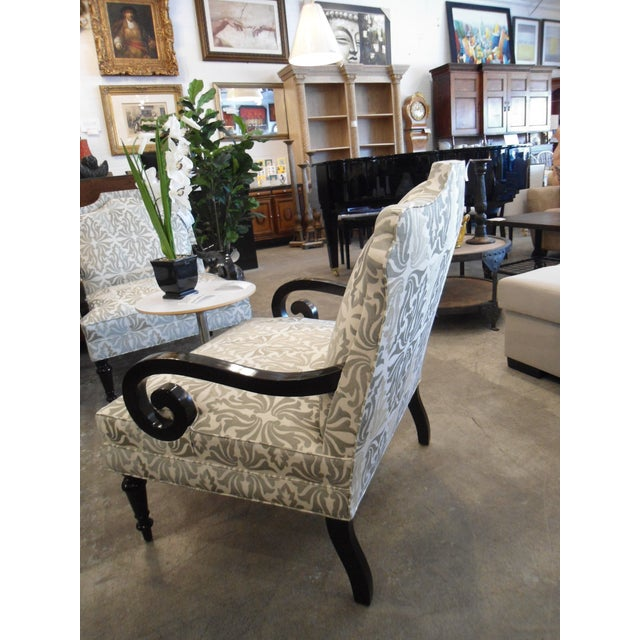 White & Silver Bergere Arm Chair - Image 8 of 10