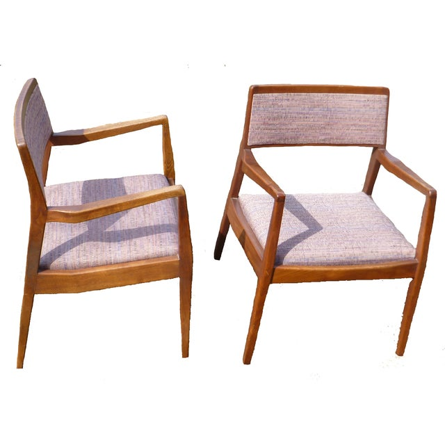 Mcm jens risom walnut dining chairs set of 10 chairish - Jens risom dining chairs ...