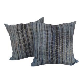Thai Woven Hemp Tie Dye Pillows - A Pair