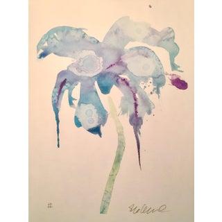 Botanical Bluebird Original Watercolor