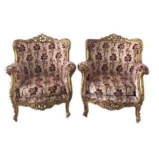Baroque Bergère-Style Chairs - A Pair
