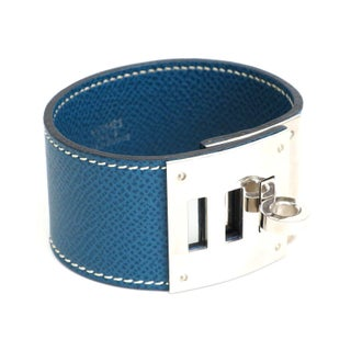 Hermes Epsom & Palladium Kelly Dog Bracelet