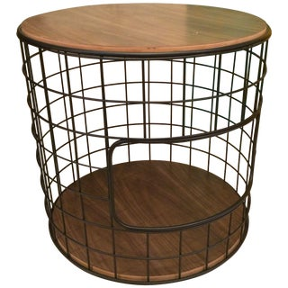 Wire Frame End Table