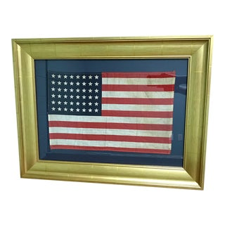 Authentic Original 48 Star Professionally Framed American Flag
