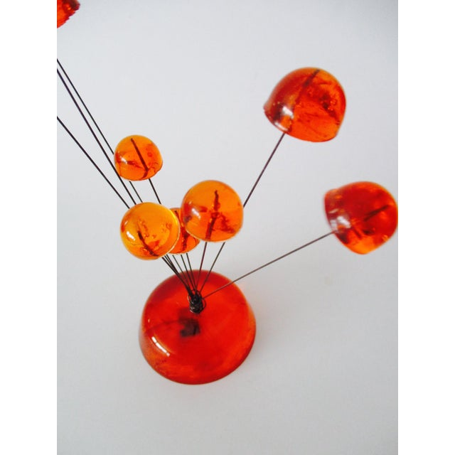 Orange Lucite Abstract Sculptural Kinetic Sculpture - Image 8 of 10