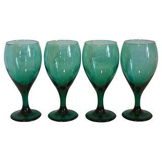 Emerald Wine Glasses - Set of 4